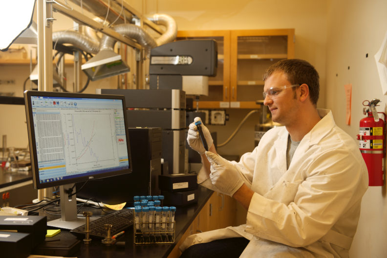 WSU Materials Science and Engineering student Mitch Rock