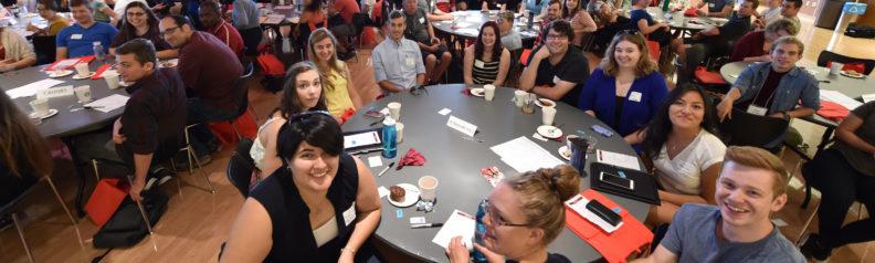 new students at 2016 graduate school orientation