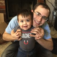 graduate student with toddler son