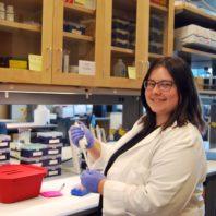 graduate student in laboratory