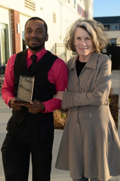 Amir Gilmore with his advisor Pamela Bettis