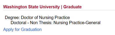 "screenshot of ""apply for graduation"" link"