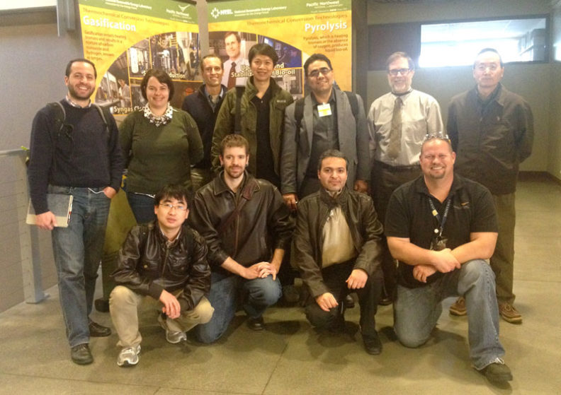Mr. Douglas Elliot (PNNL) with Dr. Garcia-Perez's group during a visit to PNNL.