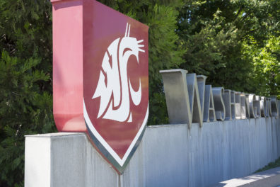 WSU Spokane entrance sign