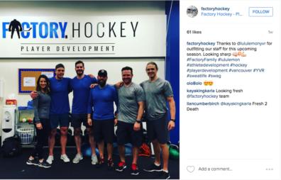 Factory Hockey Instagram
