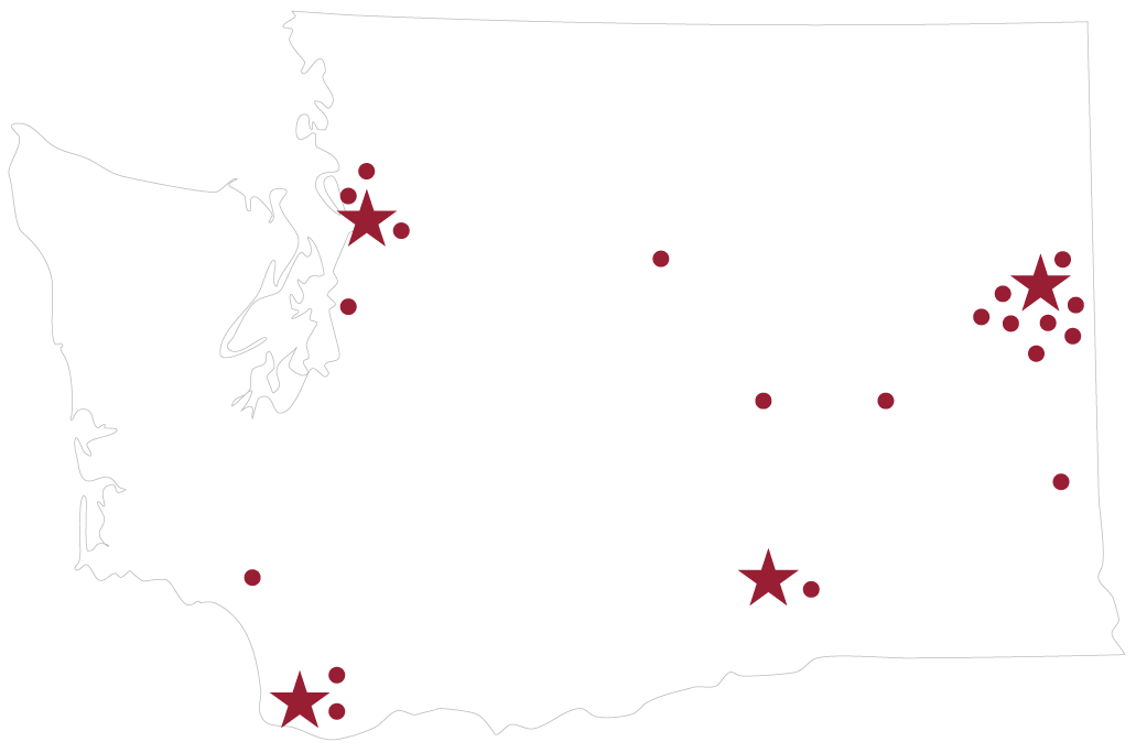 Distributed clinical campuses map