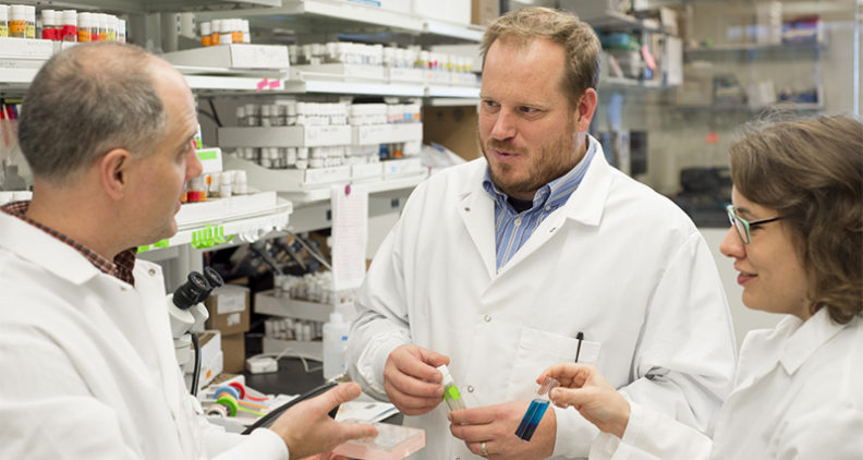 Jason Gerstner in lab