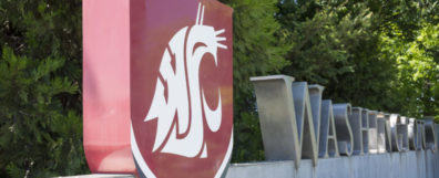 Washington State University Spokane entrance sign
