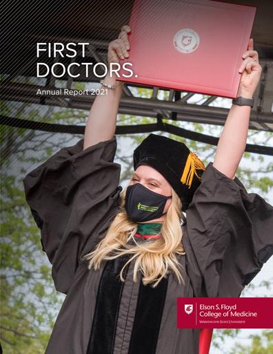 WSU College of Medicine 2021 Annual Report Cover image