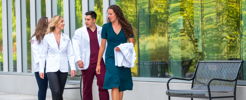 WSU Elson S. Floyd students on campus; medical students
