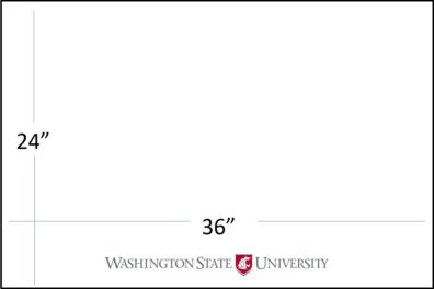 "36"" wide x 24"" tall with WSU logo template download"