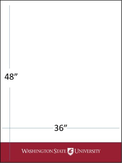 "36"" wide x 48"" tall crimson bar with white WSU logo template download"