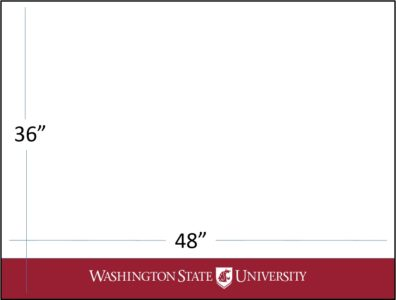 "48"" wide x 36"" tall crimson bar with white WSU logo template download"