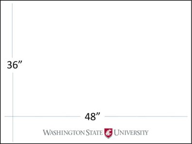 "48"" wide x 36"" tall with WSU logo template download"