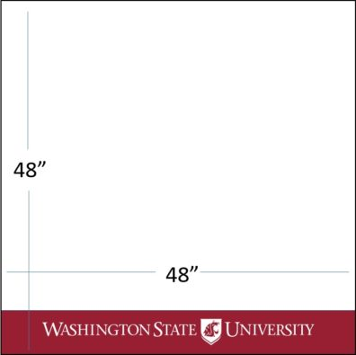 "48"" wide x 48"" tall crimson bar with white WSU logo template download"