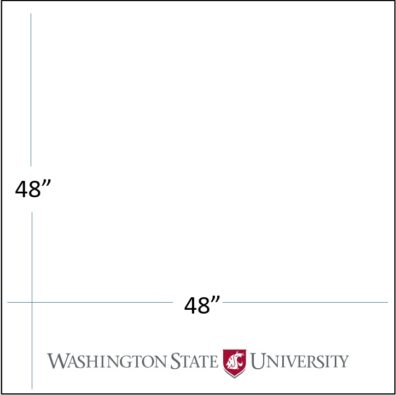 "48"" wide x 48"" tall with WSU logo template download"