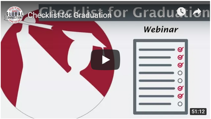 Video placeholder: Checklist for Graduation