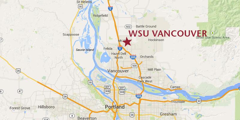 WSU Vancouver location map