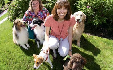 Katrina Mealey with pets