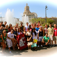 Faculty-Led Business in Spain Business students enjoy the sites in Barcelona, Spain. Photo submitted by Angel Li.