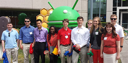 Frank Scholars enjoy the day at Google Ventures with WSU College of Business alumnus Danny Navaro.