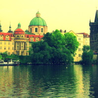 View of Prague across the Vitava River. Photo submitted by Nathan Hungate.