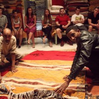 Business in Spain—Internship: Students in Morocco learn about the making of African rugs. Photo submitted by Raymond Tsway.