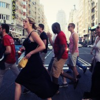 Business in Spain: Crossing the street in Valencia, Spain. Photo submitted by Raymond Tsway.