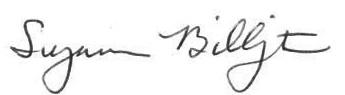 Suzi Billington signature