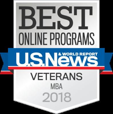 2018 - Best Online MBA Programs for Veterans-badge