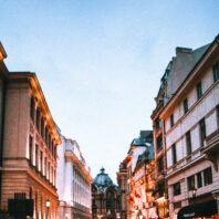Street of Bucharest, Romania