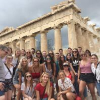 Group photo at the Greek Acropolis