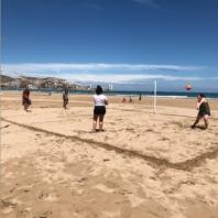 Beach Volleyball on Spain beack