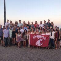 Group photo on Spanish beach