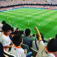 Professional Futbol match in Spain