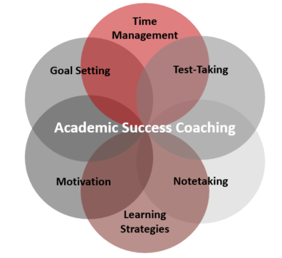 Academic Coaching Topics Graphic