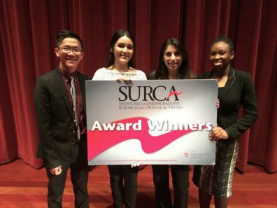 Winners SURCA2018 Nam, Veronica, Blessing, and Lysandra