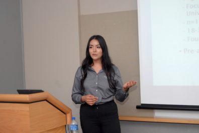 Veronica Garcia presenting at UB Conference
