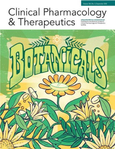 Journal issue cover, Flowers, Leaves, Clinical Pharmacology and Therapeutics, Botanicals