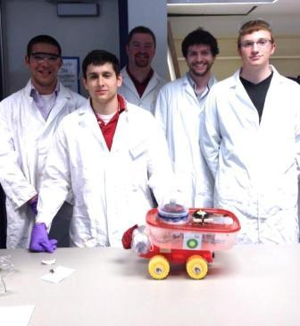 WSU chemical engineering students with ChemE Car