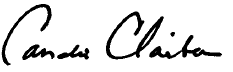 Candis Claiborn - full signature
