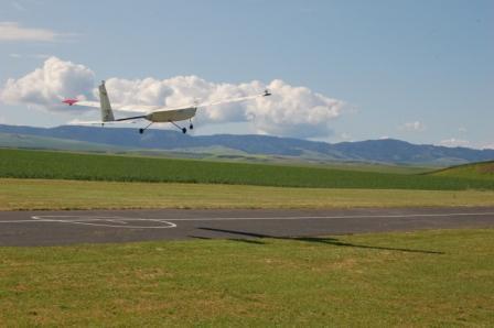 Genii, WSU's prototype unmanned aerial vehicle, in flight