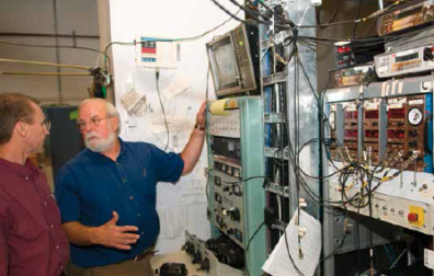 Marc Weber, staff scientist, and Professor Kelvin Lynn