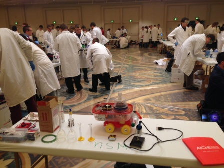A Chemical Engineering car on display at the annual regional conference competition