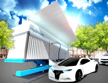 Final render by WSU students for a hydrogen fueling station that took first place in an international hydrogen design competition