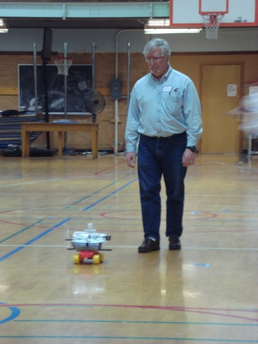 Dr. Zollars at the regional ChemE car competition