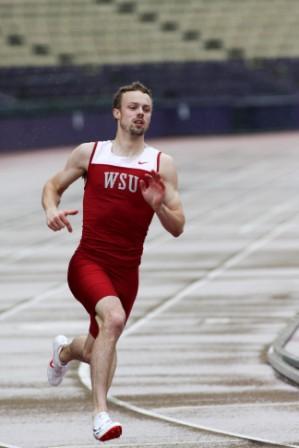 Reny Follett running on track