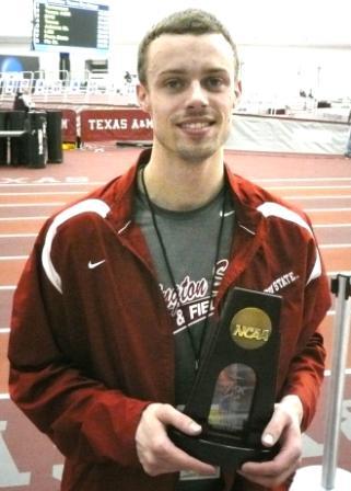 Reny Follett holding NCAA award