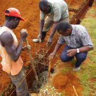 East Africans hard at work on a construction project