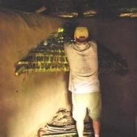 Scott Jones building a chimney in East Africa